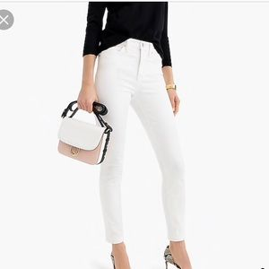 J. Crew High Rise Skinny Jeans in White